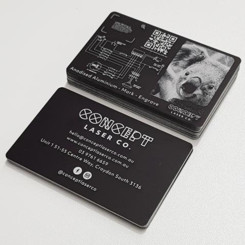 Anodised Aluminium Business Card