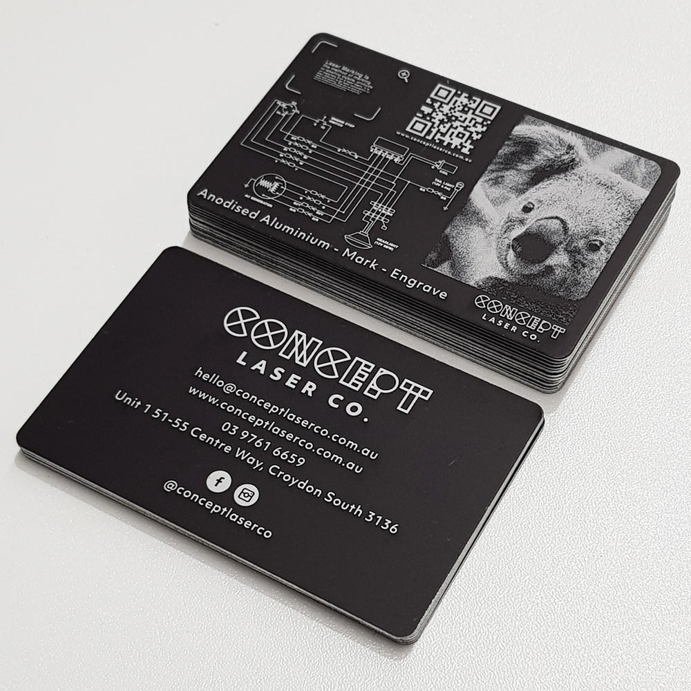 Laser Engraving Double Sided Business Cards