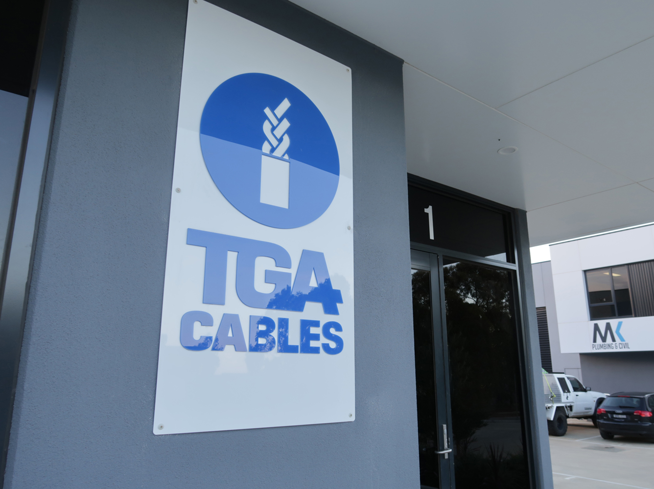 TGA Cables - Laser Cut 3D Sign for Building
