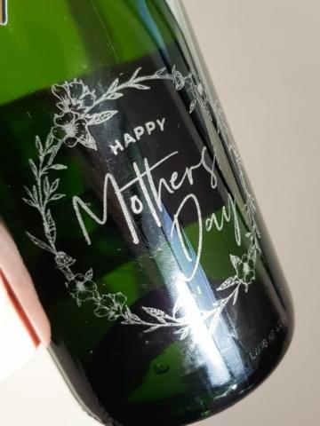 Custom Engraving onto wine bottle