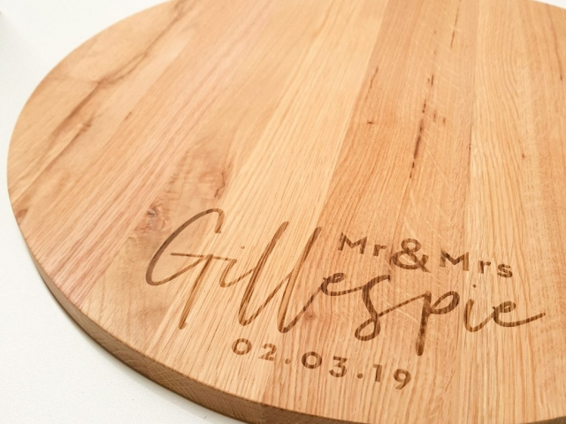 Laser Engraved Cheese Board