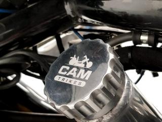 White Laser Marking Logo on a Petrol Cap