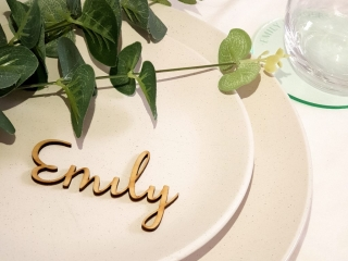 Laser Cut Wooden Name Place Card
