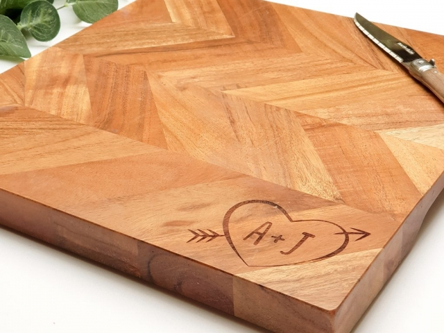 Custom Laser Engraved Wooden Chopping Board