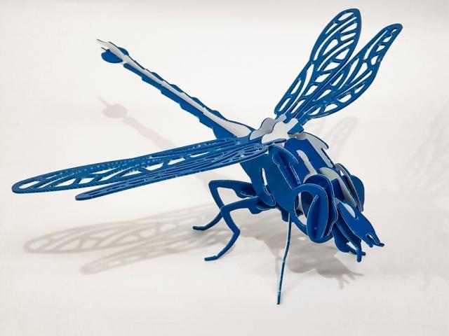 3D Laser Cut Dragonfly Puzzle
