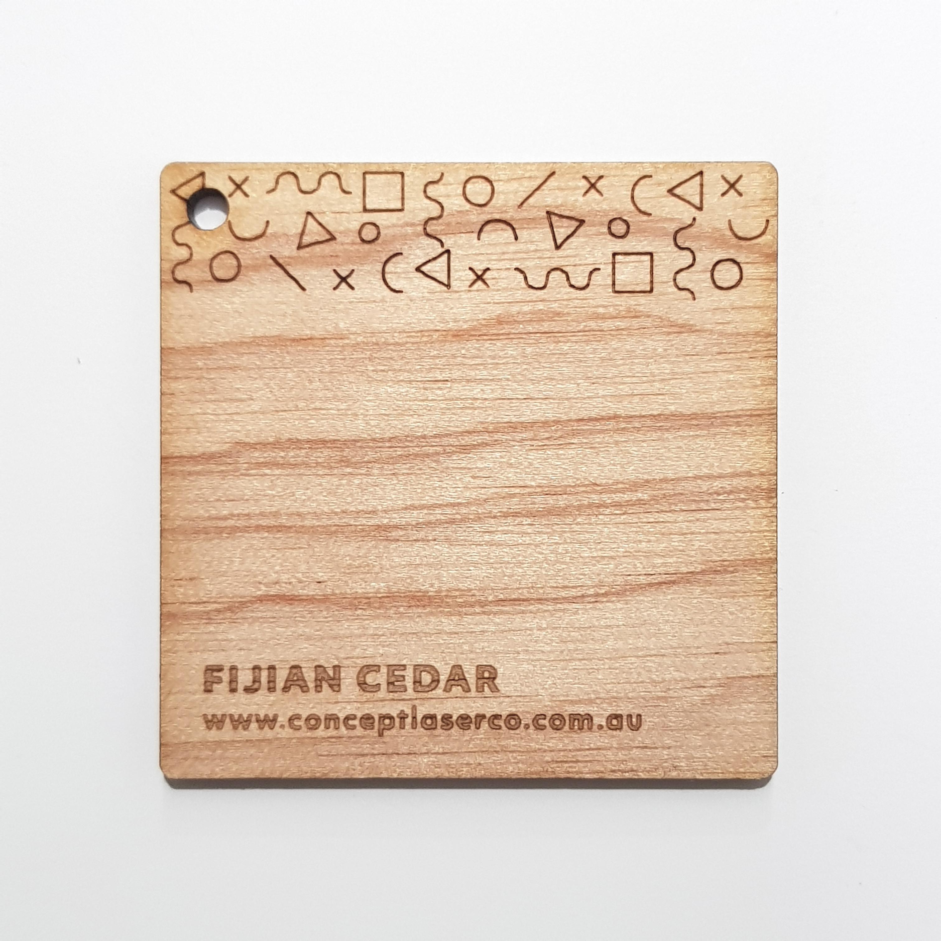 Laser Plywood - Fijian Cedar